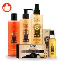 Argan Sublime Shampoo - Shampoo mit Arganöl 225 ML + Repairing Mask - Nährende Arganöl-Maske für das Haar 225 ML + ARGAN ZWEI-PHASEN-CONDITIONER + ARGAN ÖL FEINES HAAR 100 ML + ARGAN-AMPULLEN 6*3ML