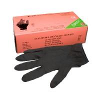 Latex Handschuhe Schwarz Staubfrei 100st